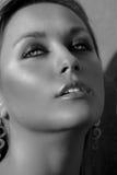 piękną twarz prawdziwej kobiety Zdjęcie Royalty Free