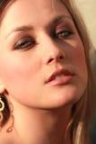 piękną twarz prawdziwej kobiety Obrazy Stock