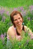 piękna łąka dziewczyny obrazy stock