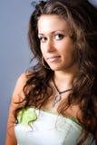 piękna śliczna ładna portreta studia kobieta Fotografia Royalty Free
