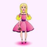Piękna śliczna dziewczyna Royalty Ilustracja