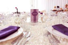 Piękna ślubna dekoracja stołu liczba Obrazy Stock