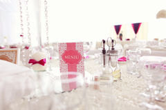 Piękna ślubna dekoracja stołu liczba Obraz Stock