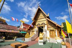 Piękna świątynia przy Chiang Raja, Tajlandia zdjęcia stock