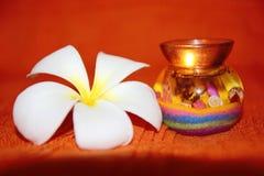 piękna świeczki kwiat Zdjęcie Royalty Free