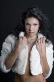 piękna żakieta futerka dziewczyna Fotografia Royalty Free