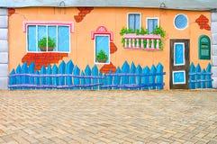 Piękna abstrakcjonistycznej sztuki tła ściana na ulicie z graffiti Obraz Stock