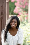 Piękna afroamerykańska dziewczyna fotografia stock