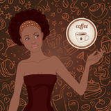 piękna Amerykanin afrykańskiego pochodzenia dziewczyna Obrazy Royalty Free