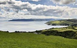 Piękna Antrim linia brzegowa od Torr głowy fotografia royalty free