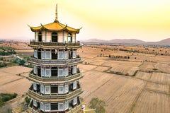 Piękna, antyczna chińska architektury świątynia, krajobraz Fotografia Royalty Free