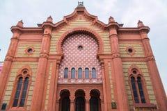 Piękna antyczna ortodoksyjna synagoga w Mauretańskim stylu Uzhhorod, Ukraina Zdjęcia Royalty Free