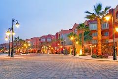 Piękna architektura Hurghada Marina obrazy stock