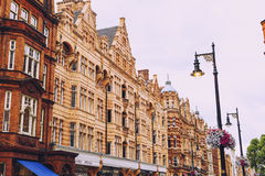 Piękna architektura i budynki w środkowym Londyn na o Fotografia Royalty Free