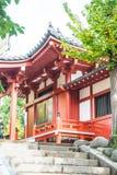 Piękna architektura przy Sensoji świątynią wokoło Asakusa terenu Zdjęcia Stock
