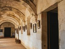 Piękna architektura w mieście Antigua zdjęcie royalty free