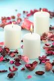 Piękna aromatyczna świeczka Zdjęcia Royalty Free