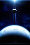 Piękna astronautyczna scena Obrazy Stock