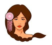 piękna azjatykcia galonowa kobieta włosów Zdjęcie Royalty Free