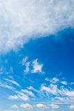 piękna błękit chmurnieje niebo Obrazy Royalty Free