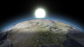 Piękna błękit ziemia Od nocy dzień - royalty ilustracja