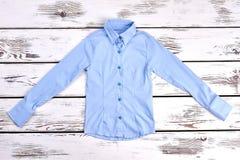 Piękna bława koszula dla dziewczyn Zdjęcia Stock