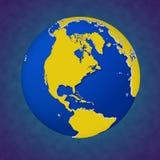 Piękna barwiona 3d ilustracja Ziemski widok Północna Ameryka Obrazy Royalty Free