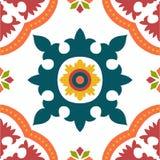 Bezszwowe colourful ornament płytki Zdjęcia Royalty Free
