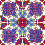 Piękna bezszwowa ornamentacyjna dachówkowa tło wektoru ilustracja Zdjęcie Royalty Free