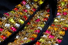 Piękna biżuteria na czarnym tle Fotografia Stock