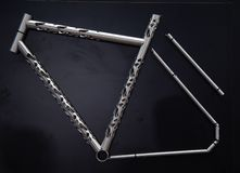 Piękna bicykl rama obraz royalty free
