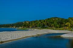 Piękna Bilene plaża, laguna blisko Maputo w Mozambik i zdjęcie stock