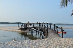 Piękna Bilene plaża, laguna blisko Maputo w Mozambik i obrazy stock