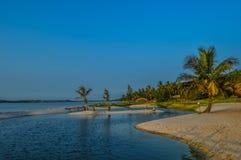 Piękna Bilene plaża, laguna blisko Maputo w Mozambik i obraz stock