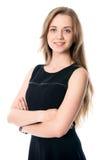 Piękna biznesowa kobieta patrzeje w kamerę Obraz Royalty Free