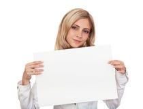 piękna biznesowa plakatowa biała kobieta Obraz Stock