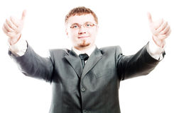 piękna biznesowego mężczyzna sukces zdjęcia royalty free