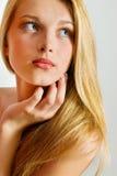 Piękna Blond Dziewczyna. Blondynka Włosy. Obraz Stock