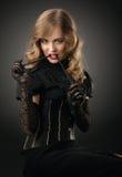 Rocznika stylowy zmysłowy portret zdjęcie royalty free