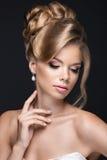 Piękna blond kobieta w wizerunku panna młoda Fotografia Stock