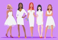 Piękna blondynka, brunetka i Czerwone Włosiane dziewczyny, obrazy royalty free