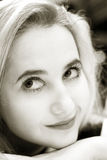 piękna blondynka dziewczyna obrazy royalty free