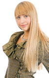 piękna blondynka portret kobiety obrazy stock