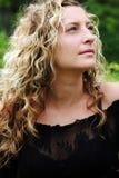 piękna blondynka portret kobiety zdjęcia royalty free