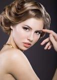 Piękna blondynki dziewczyna z perfect skórą Zdjęcie Royalty Free