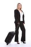 piękna blondynki klasa business podróży kobieta Obraz Stock