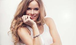 Piękna blondynki kobieta Fotografia Stock