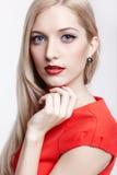 Piękna blondynki kobieta fotografia royalty free