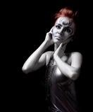 piękna bodyart portreta srebra kobieta Obrazy Stock
