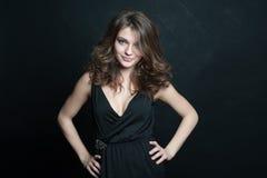Piękna brunetka. Zdjęcia Stock